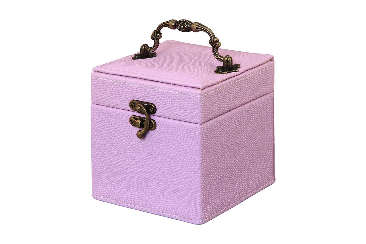 """Шкатулка для украшений El Casa """"Соты"""", цвет: сиреневый, 12 х 12 х 14 см 171457"""