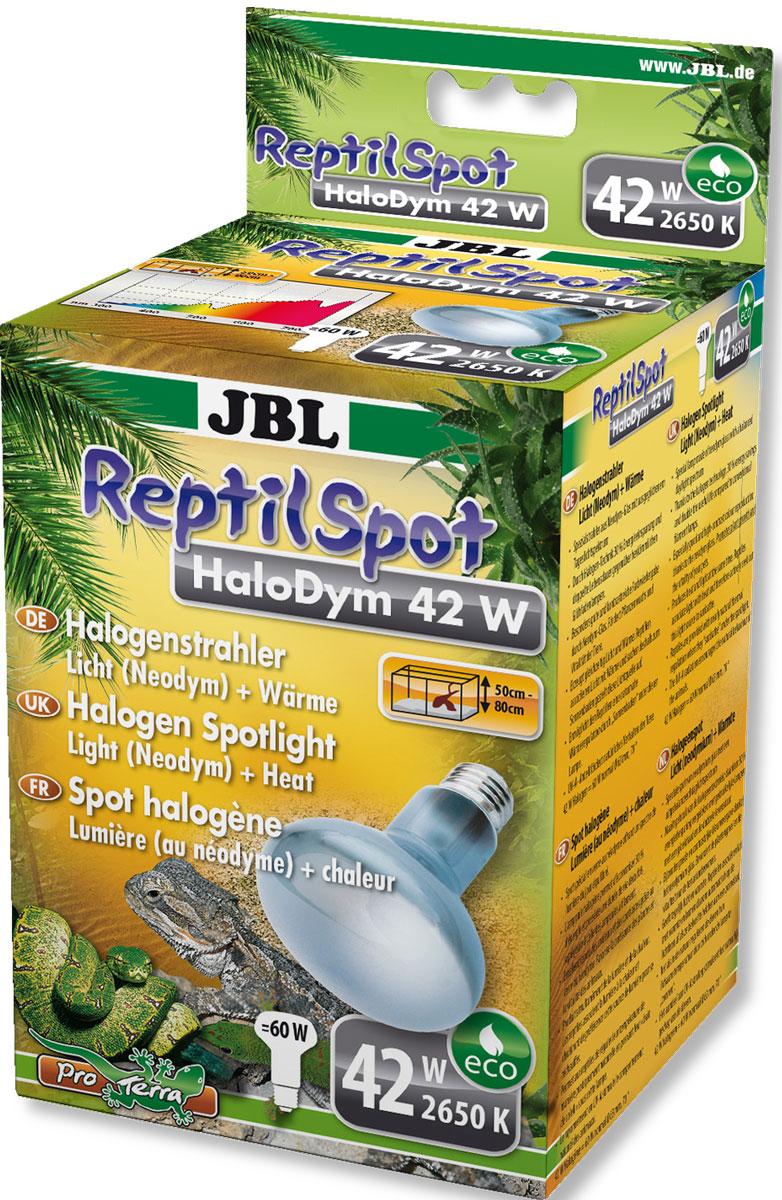 Галогеновая неодимовая лампа JBL ReptilSpot HaloDym для освещения и обогрева террариума, 42 ВтJBL6186700JBL ReptilSpot HaloDym 42W - Галогеновая неодимовая лампа для освещения и обогрева террариума, 42 ватта