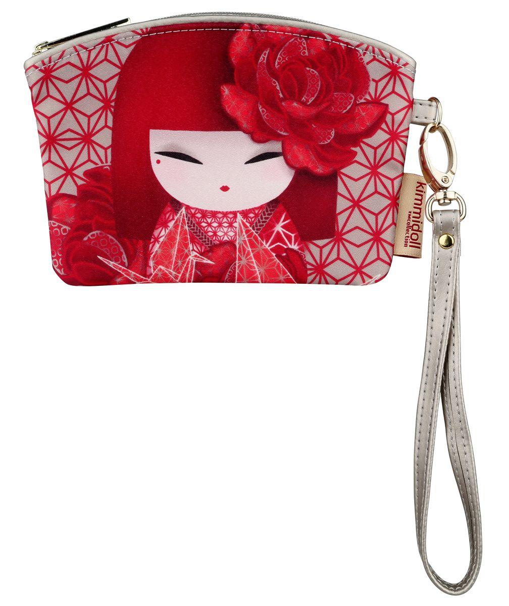 Кошелек женский Kimmidoll, цвет: красный. KF1100KF1100Этот необычный аксессуар имеет несколько функций, его можно использовать, как мини-кошелек, картхолдер так и ключницу. Удобно и надежно закрывается на молнию.