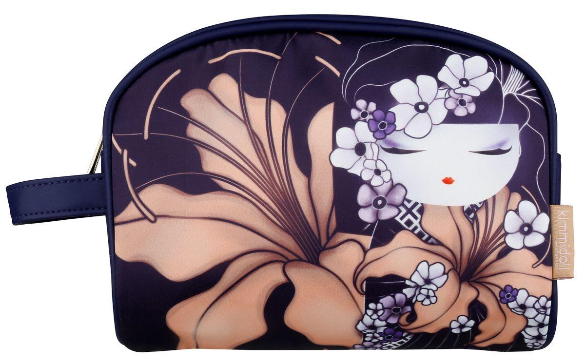 Косметичка женская Kimmidoll, цвет: темно-фиолетовый. KF1102KF1102Косметичка Kimmidoll, выполненная из искусственной кожи и сатина в традиционном японском стиле, придется по душе всем ценителям стильных вещиц. Она отлично подойдет для хранения косметики и нужных вещей. Изделие содержит одно отделение, закрывающееся на застежку-молнию. Тыльная сторона оформлена металлической пластиной с гравировкой Kimmidoll Collection. Косметичку можно использовать как пенал или дорожную аптечку.