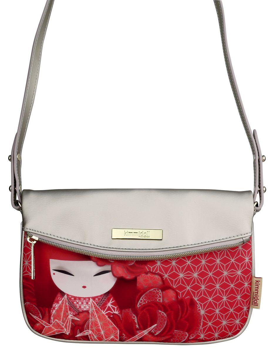 Сумка женская Kimmidoll, цвет: красный. KF1108KF1108Стильная сумка пригодится тебе в учебе, в путешествии, и в повседневном использовании. Просторное основное отделение закрывается на молнию и магнитную кнопку.