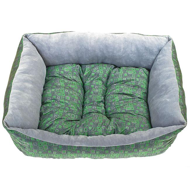 Лежак для собак Happy Puppy Нью Эйдж-3, цвет: зеленый, 57 х 44 х 15 смHP-160033-3Высокое качество, практичность, незаурядный дизайн и доступная цена – думаете, такое сочетание сложно отыскать? Тогда самое время познакомиться м маркой «Happy Puppy» - универсальное решение на любой сезон.