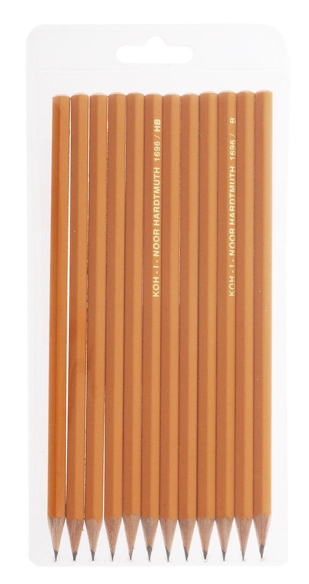 Koh-i-Noor Набор чернографитовых карандашей 12 штук023017Набор Koh-i-Noor содержит 12 чернографитовых карандашей средней твердости и предназначен для профессионалов. В набор входят карандаши с графитовым стержнем различной твердости: B, 2B, HB, H, 2H. Они изготовлены из лучших пород дерева и имеют шестигранный корпус. С карандашами торговой марки Koh-i-Noor вы всегда можете быть уверены в качестве графических работ.