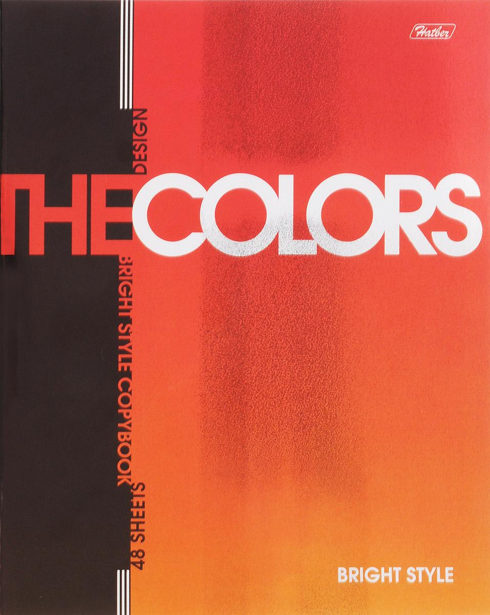 Hatber Тетрадь The Colors 48 листов в клетку цвет оранжевый