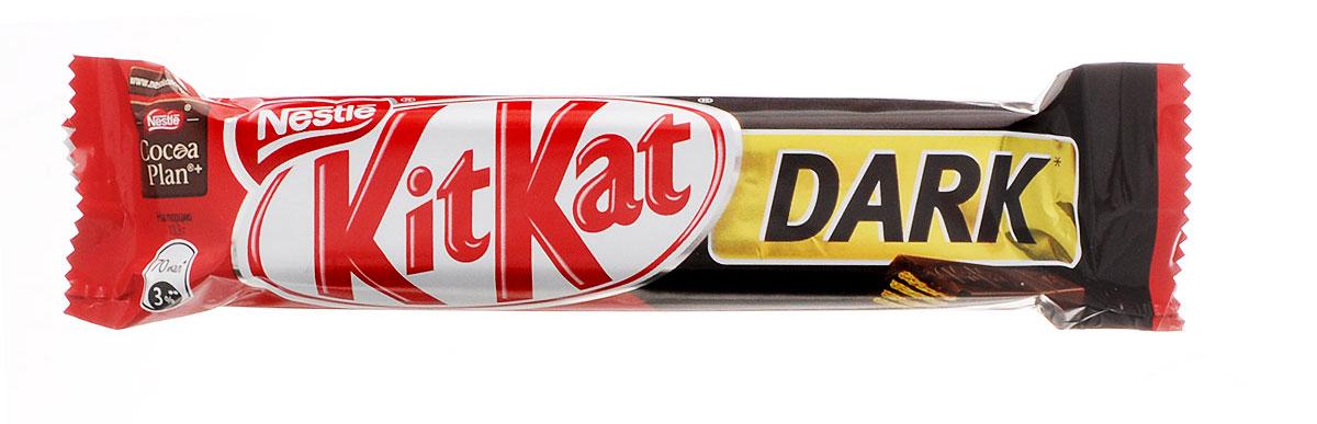 KitKat Dark темный шоколад с хрустящей вафлей, 40 г