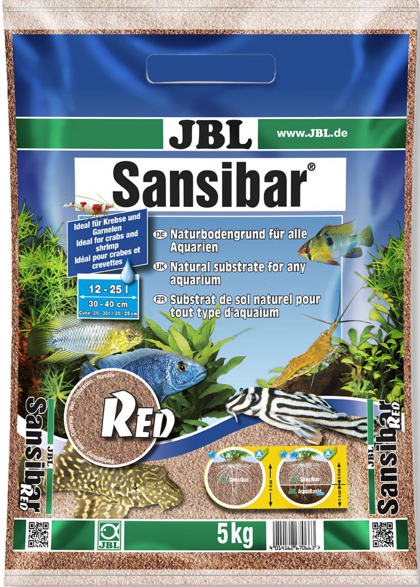 Декоративный мелкий грунт для аквариума JBL Sansibar, красный, 5 кгJBL6706600JBL Sansibar RED - Декоративный мелкий грунт для аквариума, красный, 5 кг.