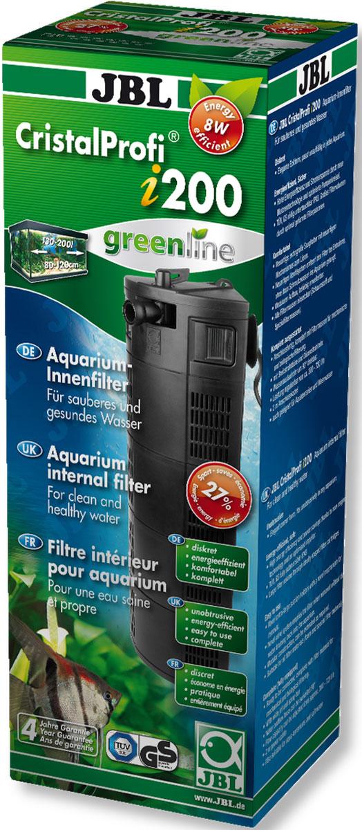 Внутренний угловой фильтр для аквариумов JBL CristalProfi i200 greenline 130-200 л, 300-720 л/чJBL6097400JBL CristalProfi i200 greenline - Внутренний угловой фильтр для аквариумов 130-200 литров, 300-720 л/ч