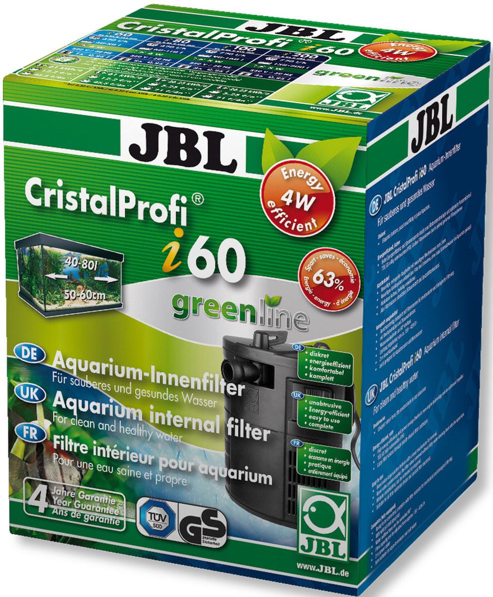 Внутренний угловой фильтр для аквариумов JBL CristalProfi i60 greenline 40-80 л, 150-420 л/чJBL6097100JBL CristalProfi i60 greenline - Внутренний угловой фильтр для аквариумов 40-80 литров, 150-420 л/ч