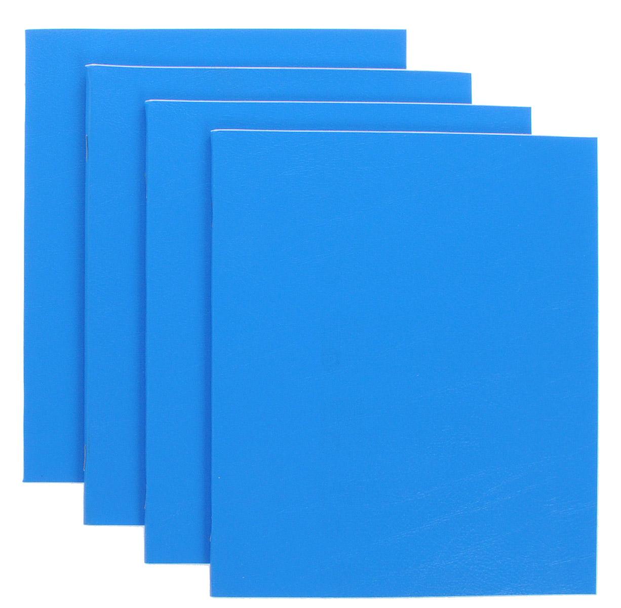 Action! Набор тетрадей Sponsor 48 листов в клетку 4 штSN-48-5/5/4_синийКомплект тетрадей Action! Sponsor включает в себя 4 тетради. Обложка каждой тетради изготовлена из бумвинила. Внутренний блок состоит из 48 листов белой бумаги, соединенных скрепками. Стандартная линовка в голубую клетку дополнена полями, совпадающими с лицевой и оборотной стороны листа.