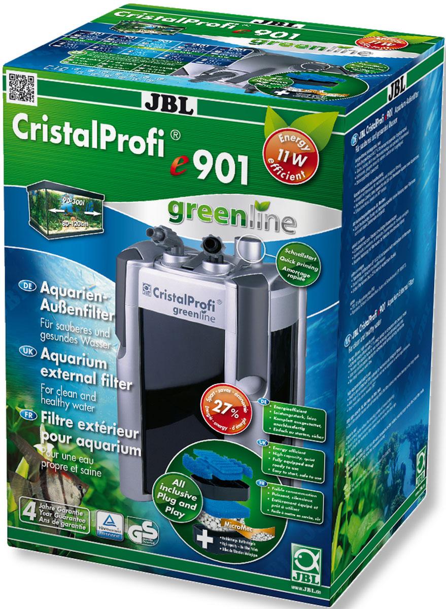 Экономичный внешний фильтр для аквариумов JBL CristalProfi e901 greenline от 90 до 300 л, до 120 см длиной, 900 л/ч, с наполнителями и аксессуарамиJBL6021100JBL CristalProfi e901 greenline - Экономичный внешний фильтр для аквариумов от 90 до 300 литров, до 120 см. длиной, 900 л/ч, с наполнителями и аксессуарами