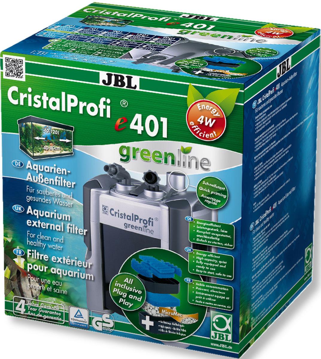 Экономичный внешний фильтр для аквариумов JBL CristalProfi e401 greenline от 40 до 120 л, до 80 см длиной, 450 л/ч, с наполнителями и аксессуарамиJBL6020000JBL CristalProfi e401 greenline - Экономичный внешний фильтр для аквариумов от 40 до 120 литров, до 80 см. длиной, 450 л/ч, с наполнителями и аксессуарами
