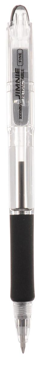 Zebra Ручка шариковая Jimnie Retractable 0,7 мм цвет чернил черный305 113011Автоматическая шариковая ручка Zebra Jimnie Retractable станет незаменимыми атрибутом для учебы или работы. Тщательно продуманный эргономичный дизайн, каучуковая подушка для пальцев, пишущий шарик нового поколения, большой пластиковый зажим - ко всем этим достоинствам ручки Jimnie Classic добавляется удобство и функциональность автоматической ручки. Надежная ручка строгого классического дизайна станет верным помощником для студента и офисного работника.