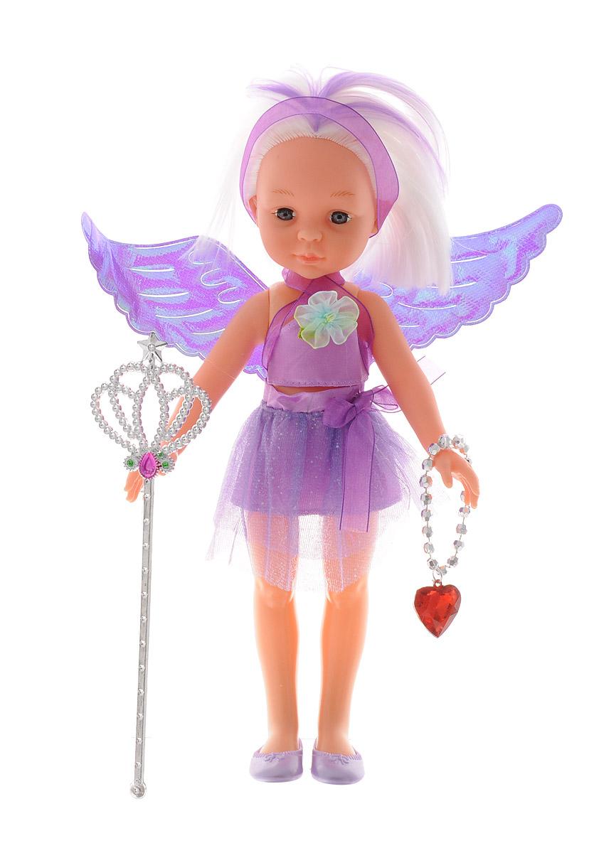 ABtoys Кукла Фея цвет одежды фиолетовыйPT-00374_фиолетовыйВеликолепная кукла ABtoys Фея обязательно порадует вашу малышку и доставит ей много удовольствия от часов, посвященных игре с ней. Куколка одета в великолепный наряд фиолетового цвета с блестящими крылышками. Светлые волосы куклы можно расчесывать и делать разнообразные прически. Ножки, ручки и голова куколки подвижны. Вместе с куклой в набор входят волшебная палочка и ожерелье. Украшение можно использовать как ожерелье для куклы, или как браслет для ее маленькой хозяйки. Выразительный внешний вид и аккуратное исполнение куклы делает ее идеальным подарком для любой девочки. Кукла-фея станет настоящей подружкой для своей юной обладательницы! Порадуйте свою малышку таким великолепным подарком!