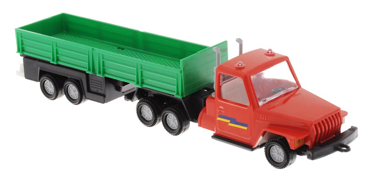 Форма Автоприцеп Урал цвет красный зеленыйС-12-Ф_красный, зеленыйАвтоприцеп Урал от компании Форма - это замечательная игрушка для маленьких любителей грузовых машинок. Игрушка представляет собой мощный грузовик Урал, предназначенный для перевозки крупногабаритного груза, такого, как бревна. Колеса машинки и прицепа свободно вращаются. Машинка подойдет для сюжетно-ролевой игры. Такой машинкой можно играть как дома, так и на улице.