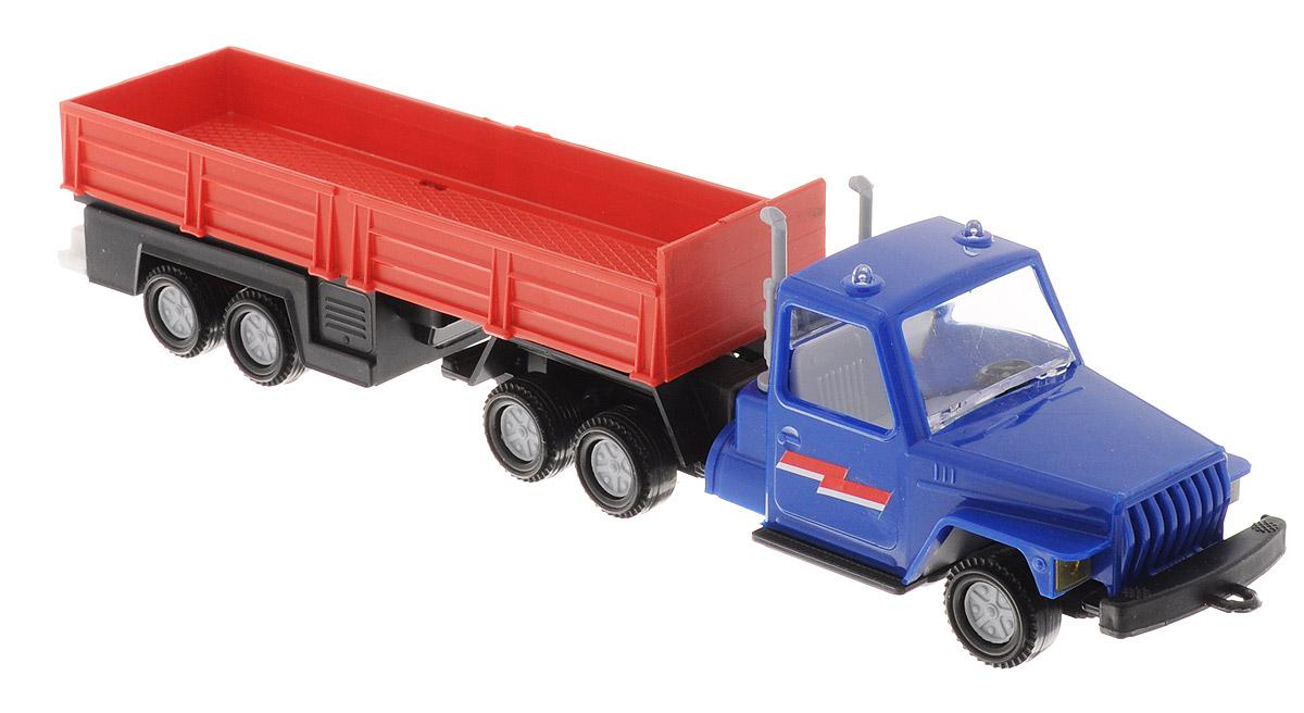 Форма Автоприцеп Урал цвет синий красныйС-12-Ф_синий, красныйАвтоприцеп Урал от компании Форма - это замечательная игрушка для маленьких любителей грузовых машинок. Игрушка представляет собой мощный грузовик Урал, предназначенный для перевозки крупногабаритного груза, такого, как бревна. Колеса машинки и прицепа свободно вращаются, прицеп поворачивается. Машинка подойдет для сюжетно-ролевой игры. Такой машинкой можно играть как дома, так и на улице.