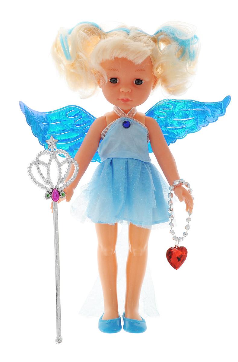 ABtoys Кукла Фея цвет одежды голубойPT-00374Великолепная кукла ABtoys Фея обязательно порадует вашу малышку и доставит ей много удовольствия от часов, посвященных игре с ней. Куколка одета в великолепный наряд голубого цвета с блестящими крылышками. Светлые волосы куклы можно расчесывать и делать разнообразные прически. Ножки, ручки и голова куколки подвижны. Вместе с куклой в набор входят волшебная палочка и ожерелье. Украшение можно использовать как ожерелье для куклы, или как браслет для ее маленькой хозяйки. Выразительный внешний вид и аккуратное исполнение куклы делает ее идеальным подарком для любой девочки. Кукла-фея станет настоящей подружкой для своей юной обладательницы! Порадуйте свою малышку таким великолепным подарком!