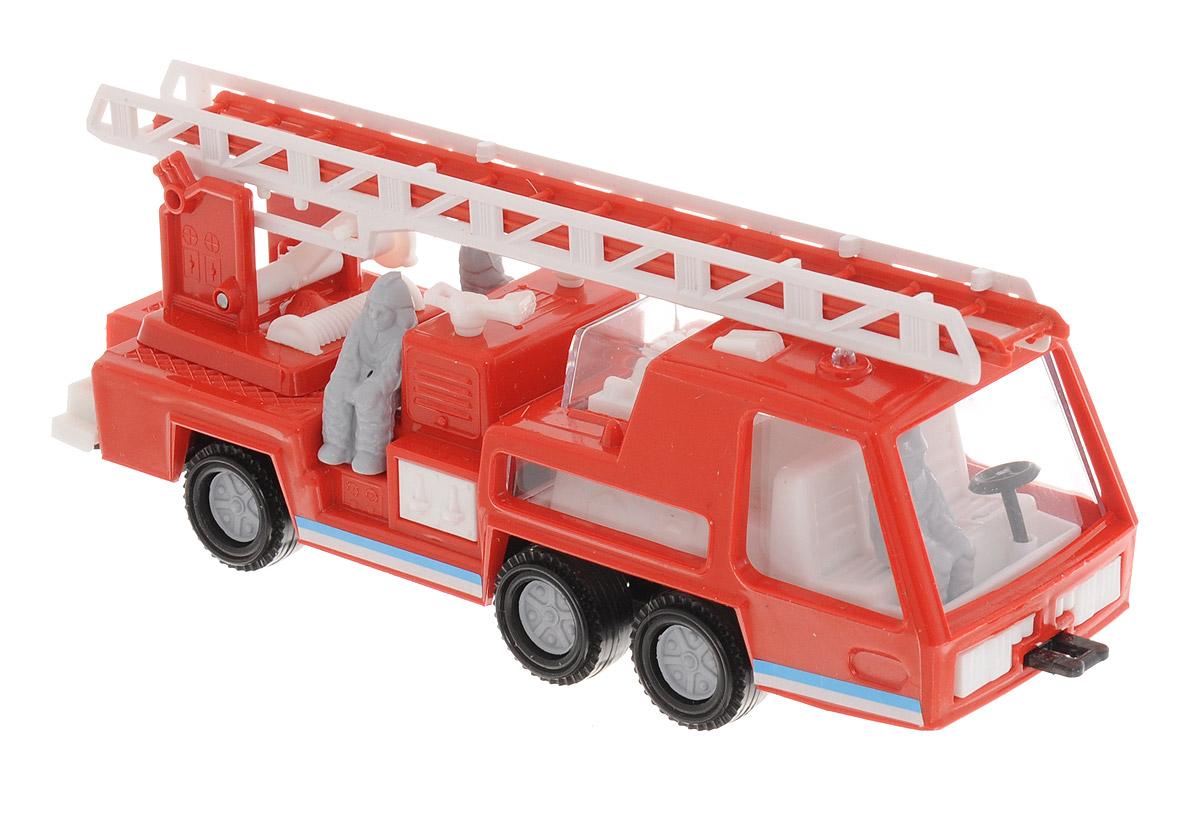 Форма Пожарная машина Супер-моторС-5-ФПожарная машина Супер-мотор от компании Форма - это замечательная игрушка для маленьких любителей машинок. Игрушка представляет собой пожарную машину с лестницей и тремя фигурками пожарных. Колеса машинки свободно вращаются. Лестница поворачивается, поднимается и выдвигается. Лестница имеет два уровня установки высоты, на которых она прочно фиксируется. Машинка подойдет для сюжетно-ролевой игры. Такой машинкой можно играть как дома, так и на улице.