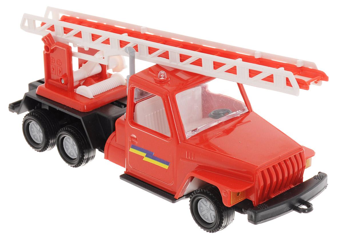 Форма Пожарная машина УралС-9-ФПожарная машина Урал от компании Форма - это замечательная игрушка для маленьких любителей машинок. Игрушка представляет собой пожарную машину с лестницей. Колеса машинки свободно вращаются. Лестница поворачивается, поднимается и выдвигается. Лестница имеет два уровня установки высоты, на которых она прочно фиксируется. Машинка подойдет для сюжетно-ролевой игры. Такой машинкой можно играть как дома, так и на улице.