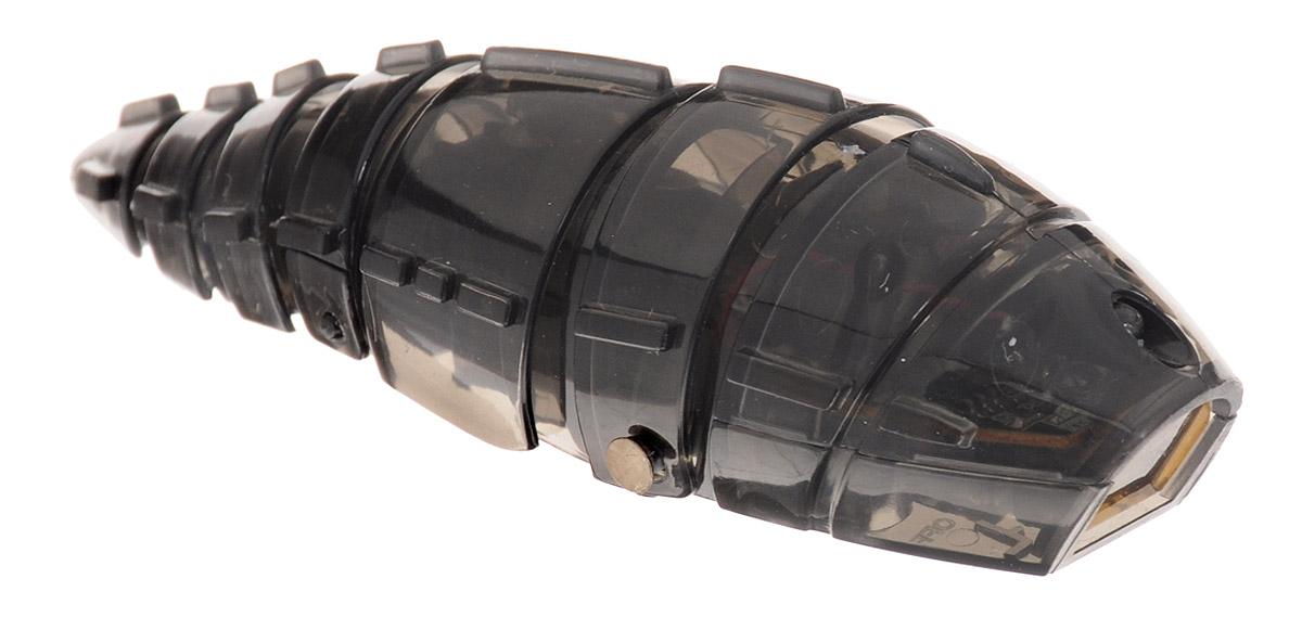Pilotage Микро-робот Larva цвет черныйRC24870Микро-робот Pilotage Larva, управляемый с помощью инфракрасного датчика, за одну секунду может преодолевать большое расстояние! Ларва по своему внешнему виду напоминает личинку. Она очень плавно скользит по поверхности, при этом её хвост совершает движения из стороны в сторону. Благодаря инфракрасному датчику, расположенному в передней части корпуса, Ларва не сталкивается с препятствиями на своем пути, а избегает их. Если на ее пути встречается препятствие, Ларва плавно и грациозно развернется и быстро продолжит свой путь в другом направлении. Микро-робот работает от 3 батареек типа AG13 (входят в комплект).