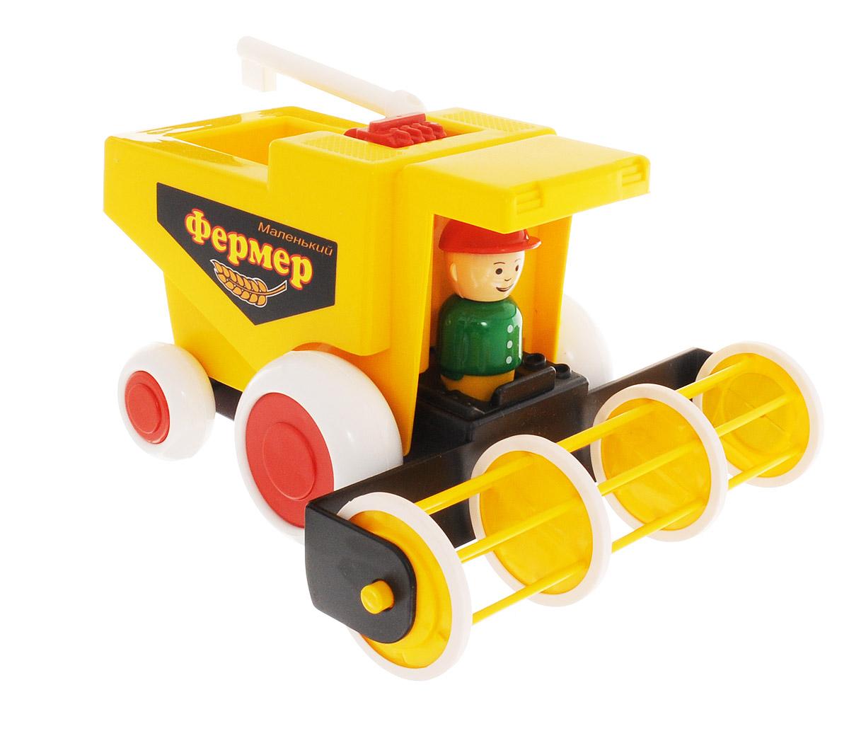 Форма Комбайн Маленький фермерС-86-ФКомбайн Маленький фермер от компании Форма - это замечательная игрушка для маленьких любителей машинок. Игрушка представляет собой комбайн с вращающимся барабаном-мотовилом. Плотные прорезиненные колеса комбайна обеспечивают хорошее сцепление с любой, даже гладкой поверхностью. Зерновой шнек поворачивается. В кабине находится фигурка комбайнера, которую можно вынуть и играть с ней отдельно. Машинка подойдет для сюжетно-ролевой игры. Такой машинкой можно играть как дома, так и на улице.