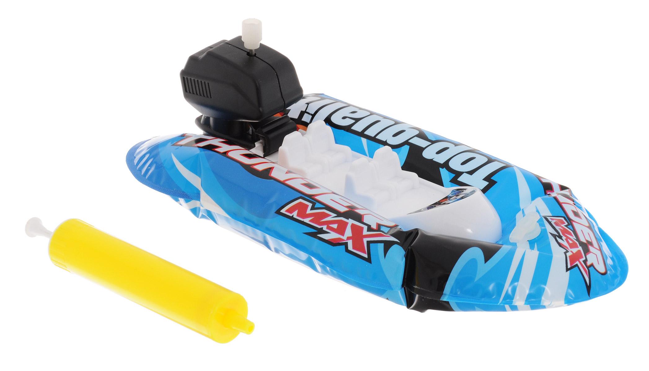 Pilotage Надувная лодка Fun Boat c насосом цвет синийRC18325Надувная лодка Pilotage Fun Boat с подвесным мотором, предназначена для запуска в ванной, бассейне или небольшом водоеме. Корпус лодки выполнен из приятного на ощупь, прочного материала ПВХ и накачивается воздухом с помощью входящего в комплект насоса - все, как в реальной жизни. После надувания корпуса достаточно завести навесной мотор, и лодка поплывет. Эта надувная лодочка скрасит ваше времяпрепровождение в жаркий день у воды, а если рядом имеется ручеек, вы сможете устроить азартные гонки!