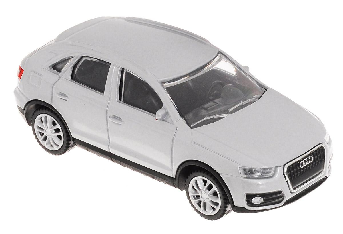 Rastar Модель автомобиля Audi Q3 цвет серебристый58300_серебристыйМодель автомобиля Rastar Audi Q3 будет отличным подарком как ребенку, так и взрослому коллекционеру. Благодаря броской внешности, а также великолепной точности, с которой создатели этой модели масштабом 1:43 передали внешний вид настоящего автомобиля, машинка станет подлинным украшением любой коллекции автомобилей. Модель будет долго служить своему владельцу благодаря металлическому корпусу с элементами из пластика. Колеса машинки свободно вращаются. Модель автомобиля обязательно понравится вашему ребенку и станет достойным экспонатом любой коллекции.