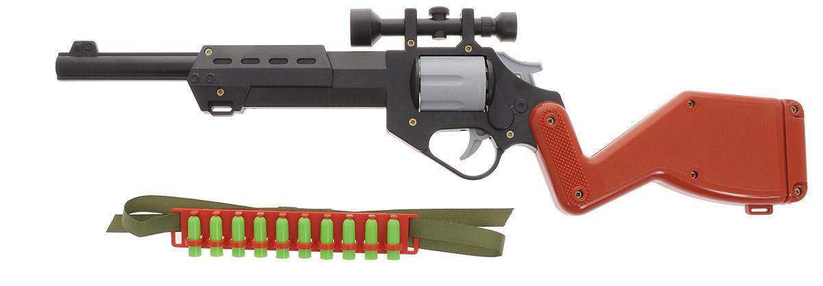 Форма Винтовка c оптическим прицеломС-110-ФВинтовка c оптическим прицелом от компании Форма будет великолепным подарком любому мальчишке! Винтовка имеет вращающийся барабан, который заряжается пятью пластиковыми патронами. Стреляет винтовка на расстояние до 7 метров. В комплекте также идет патронташ с 10 патронами. Патронташ можно повесить через плечо с помощью регулируемого ремешка. Такая винтовка наилучшим образом подходит для активных игр в войнушку и солдатики.