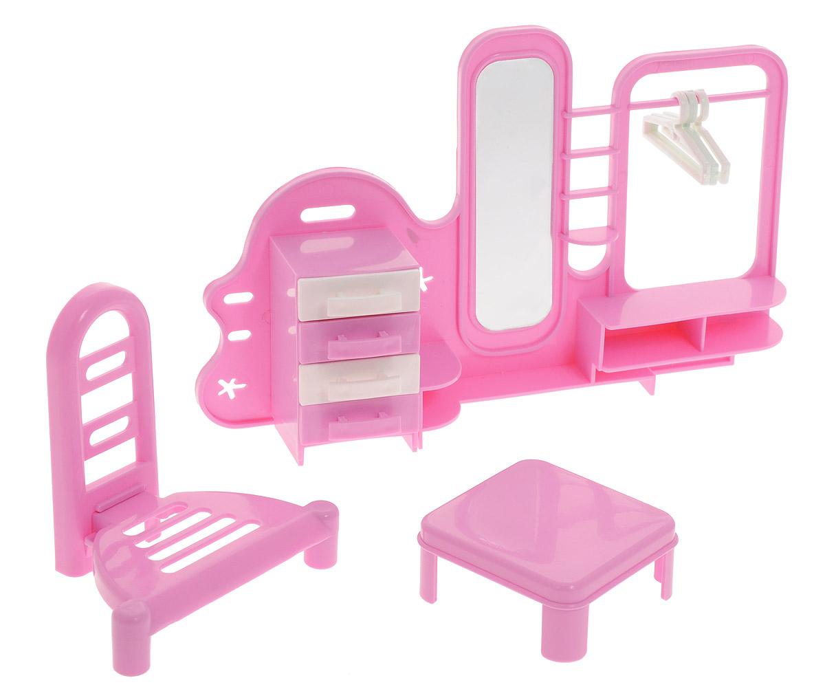 Форма Набор мебели для кукол ПрихожаяС-52-ФНабор мебели для куклы Прихожая отлично впишется в интерьер кукольного домика. Любой девочке хочется, чтобы у любимых кукол было как можно больше аксессуаров для интересных и увлекательных игр. Набор Прихожая включает в себя множество элементов: столик, стульчик, прихожая с безопасным зеркалом, тремя вешалками и тумбочкой. Шкафчики у тумбочки выдвигаются. Все предметы выполнены из безопасного материала в приятной цветовой гамме. Набор может использоваться в качестве интерьера для прихожей в кукольном домике. Набор кукольной мебели для прихожей - отличный подарок для маленькой принцессы и ее кукол.