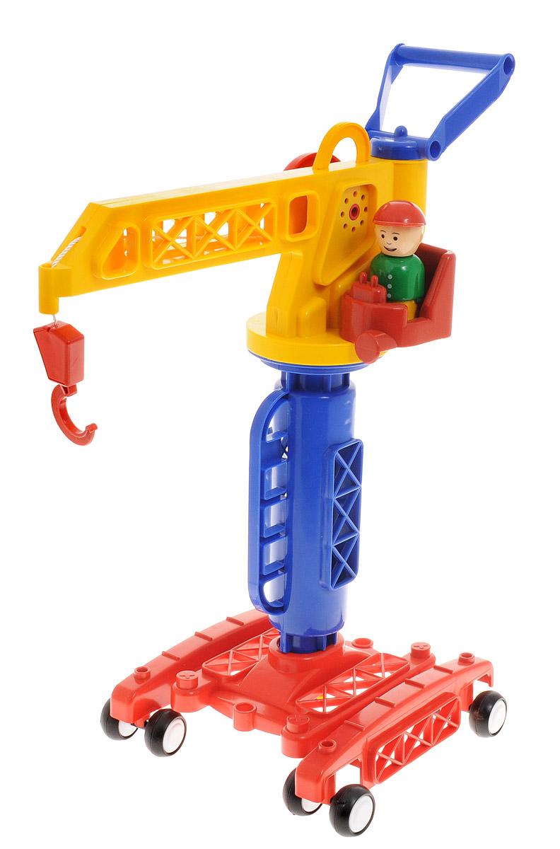 Форма Кран башенный Детский садС-81-фБашенный кран Форма Детский сад - это яркий и абсолютно безопасный кран, выполненный из прочных материалов. Большой башенный кран обязательно понравится маленькому строителю, и станет непременным атрибутом строительных игр. Кран оснащен четырьмя парами нескользящих колес, поворотной стрелой и крюком на лебедке со встроенной трещеткой. В кабине крана находится фигурка крановщика, которую можно вынуть и играть с ней отдельно. Сделайте вашему ребенку такой замечательный подарок!