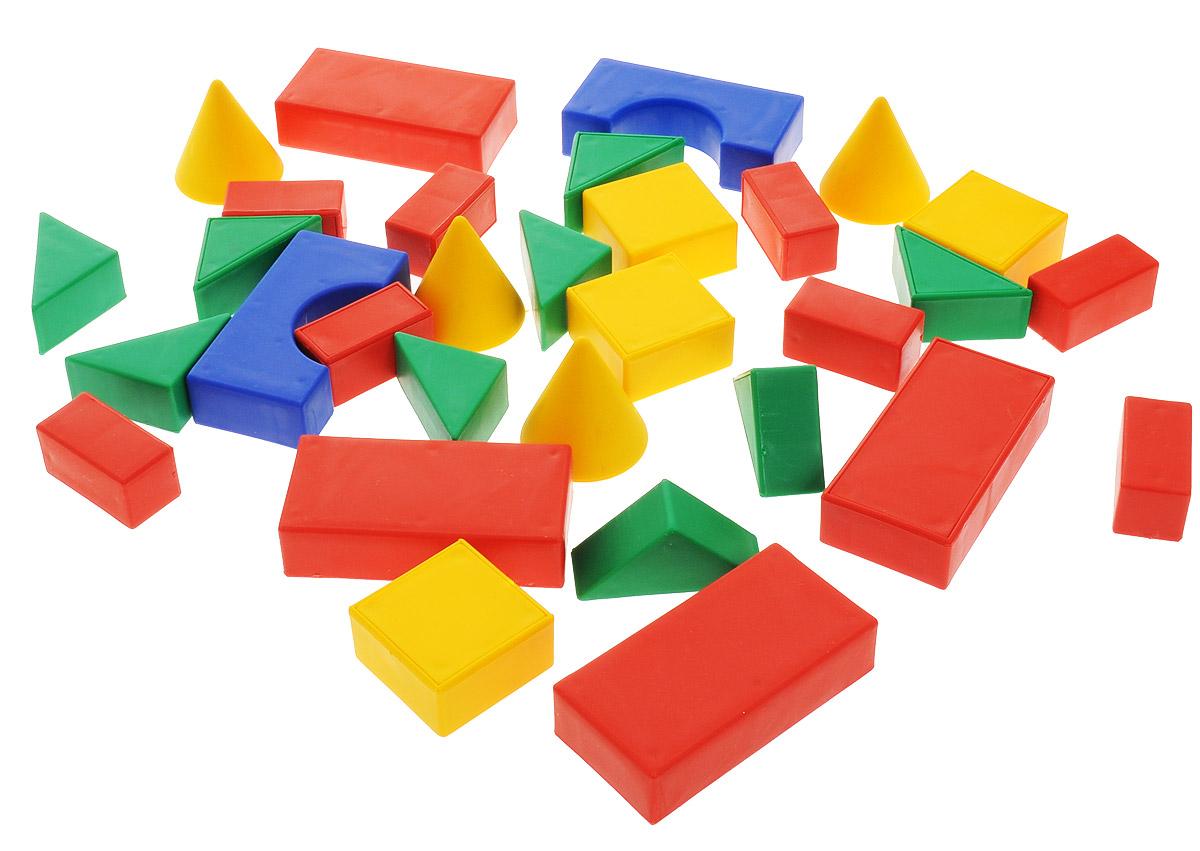Форма Набор строительный классический малый №3С-90-ФКлассический строительный набор от компании Форма - это набор пластмассовых фигурок, из которых ваш малыш может строить дома, укрепления и различные сооружения. Детали выполнены из высококачественной пластмассы. В наборе 30 деталей.