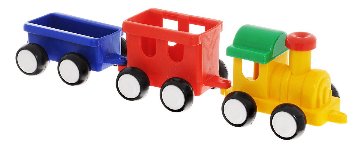 Форма Паровозик Детский сад цвет желтый красный синийС-57-ФПаровозик Форма Детский сад - это яркий и абсолютно безопасный паровозик, выполненный из прочных материалов. Паровозик обязательно порадует малыша и станет замечательным подарком для юного железнодорожника. Паровоз и два вагона крепко сцеплены друг с другом, имеют широкие нескользящие колеса, благодаря которым не будут буксовать даже на гладкой поверхности. В паровоз и вагоны можно посадить маленькие фигурки. Пластмассовый паровозик может стать незаменимым другом в песочнице.