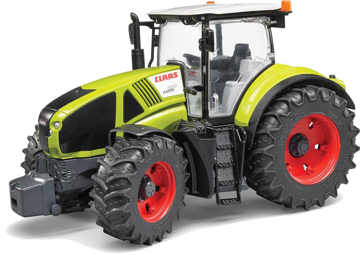 Bruder Трактор Claas Axion 95003-012Трактор Bruder Claas Axion 950 станет одной из любимых игрушек вашего ребенка! Модель выполнена из качественного и безопасного пластика. Кабина трактора застеклена, оборудована вращающимся рулем, креслом и рычагом управления. При повороте руля колеса изменяют свое направление. Капот трактора открывается, предоставляя доступ к двигателю. Отличная управляемость и комфорт достигаются за счет встроенного в ось маятника. Крупные колеса трактора с протекторами, что обеспечивает тихий ход машины и сохранность напольного покрытия. Игра с такой техникой развивает у ребенка логическое мышление и воображение, мелкую моторику, зрительное восприятие и память.