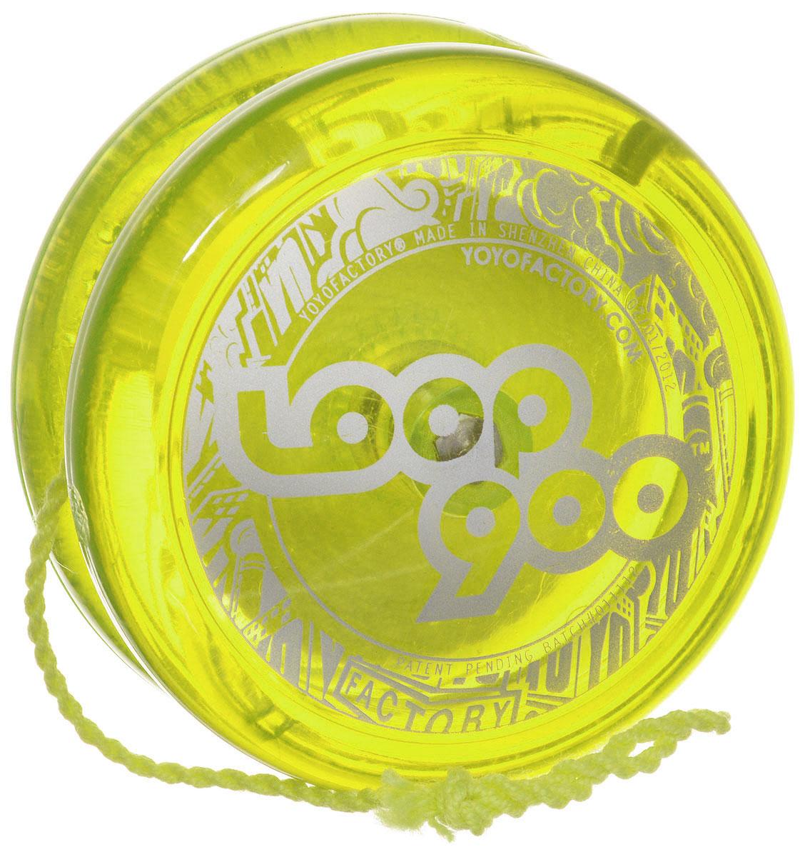 YoYoFactory Йо-йо Loop 900 цвет салатовыйLoop 900_салатовыйЙо-йо YoYoFactory Loop 900 - это узнаваемый H-профиль, идеальное покрытие и стабильность, неизменное качество исполнения. На веревке йо-йо сидит великолепно, а игра с ним - одно удовольствие! Йо-йо - это игрушка, состоящая из двух симметричных половинок соединенных осью, к которой прикреплена веревка. Современный йо-йо значительно отличается от тех, к которым многие привыкли. Сейчас йо-йо - это такая же часть молодежной культуры как скейт, ВМХ или сноуборд. Йо-йо популярно во многих странах мира, таких как Россия, США и Япония. Ежегодно во всем мире проходят различные чемпионаты по игре с йо-йо, в том числе и Чемпионат России, в котором собираются лучшие игроки со всей страны.