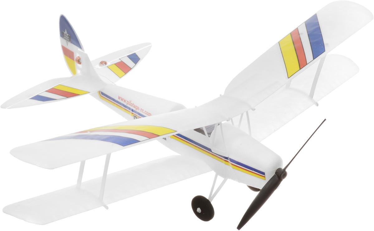 Pilotage Самолет на радиоуправлении Tigermoth RTRRC15844Ультралегкий миниатюрный самолет на радиоуправлении Pilotage Tigermoth RTR специально спроектирован для полетов в зале или в полный штиль на улице. Модель оснащена электродвигателем и трехканальным управлением. Полноразмерный биплан Tigermoth - самый известный британский учебный самолет всех времен, и во время Второй мировой войны имел огромную популярность в соединенном королевстве Великобритании, в Австралии, Новой Зеландии и Канаде. В то время большинство пилотов Royal Force обучались именно на Tiger Moth. Вес модели всего 14 грамм, а размах не более 32 сантиметра. Аккумулятор самолета заряжается от встроенного в передатчик зарядного устройства, после чего биплан может летать 6-10 минут. Компактный Pilotage Tigermoth RTR очень устойчивый в полете, но в умелых руках способен выполнять пилотажные маневры. Эта модель понравится новичкам, а опытные пилоты смогут насладиться ее плавным и размеренным полетом. Оставайтесь на высоте, маневрируйте, а если...