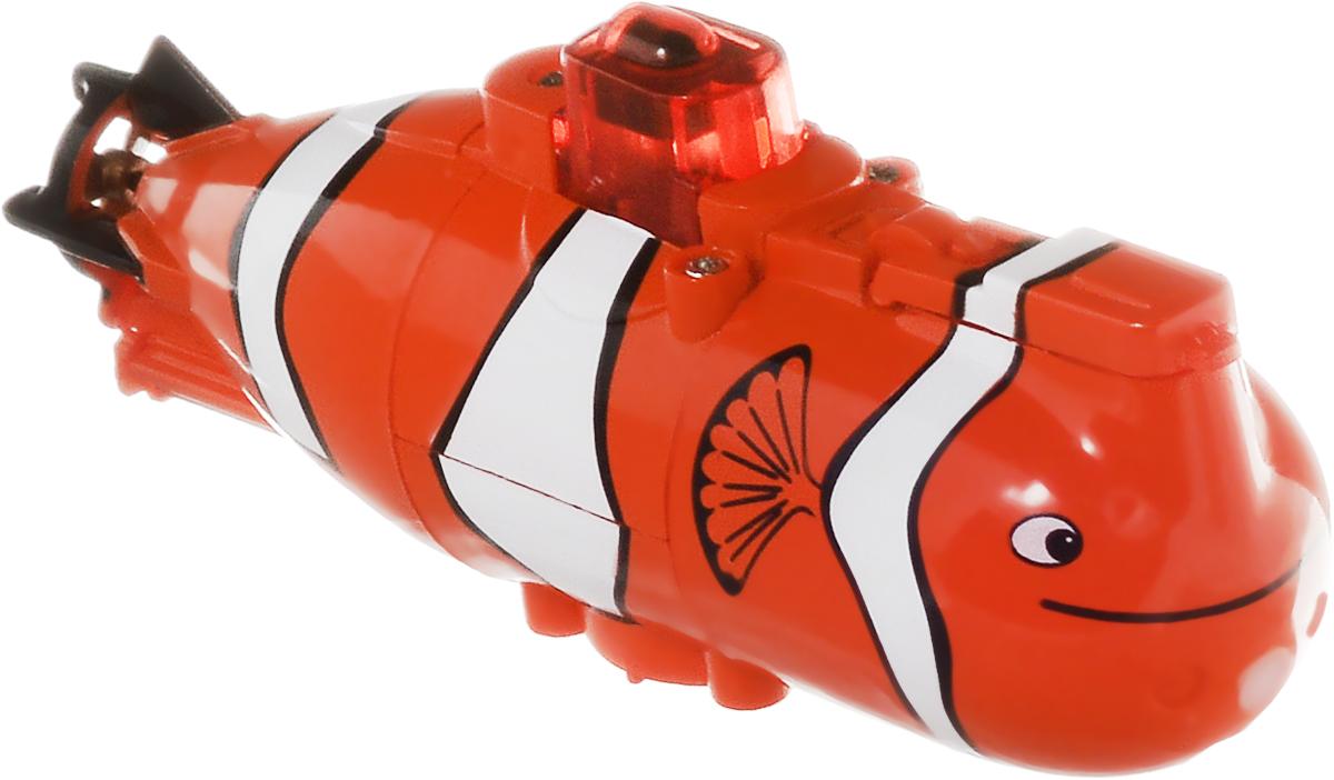 Pilotage Подводная лодка на радиоуправлении Mini Submarine RTR цвет оранжевыйRC13687Подводная лодка на радиоуправлении Pilotage Mini Submarine RTR умеет всё, проста в использовании и управляется при помощи 3-канального передатчика. Подлодка может погружаться на глубину до 60 сантиметров и всплывать, идти вперед или задним ходом, поворачивать в любом направлении и даже крутиться на месте на 360 градусов. Плотно прижав водозащитную крышку, вы включаете электропитание субмарины. Рубка наполняется светом, и модель освещает свой путь красными прожекторами, похожими на глаза диковинного подводного животного. Одной зарядки аккумулятора подлодки хватает на 4 минут хода, причем аккумулятор модели заряжается от пульта за 25 минут, поэтому бороздить бездну аквариума можно хоть целый день. Практичная конструкция, простота в управлении, надежность - все эти качества позволяет получить массу удовольствия, запуская модель в ванной или в аквариуме и даже в небольшом чистом водоеме. Погружайтесь, оставайтесь на поверхности, маневрируйте, а если есть...