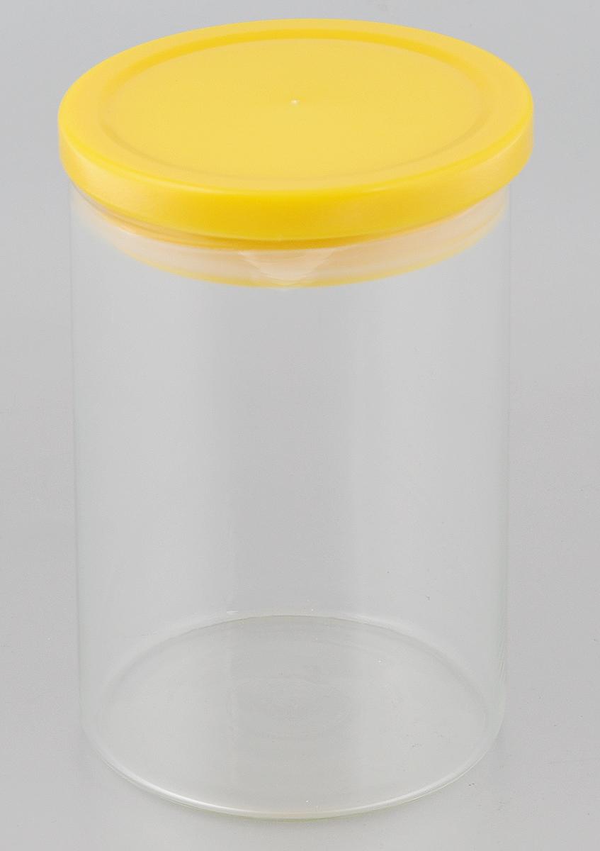 Банка для сыпучих продуктов Gotoff, 800 мл8260Банка для сыпучих продуктов Gotoff изготовлена из прочного стекла и оснащена плотно закрывающейся пластиковой крышкой. Поэтому внутри сохраняется герметичность и продукты дольше остаются свежими. Изделие предназначено для хранения различных сыпучих продуктов: круп, чая, сахара, орехов и другого. Функциональная и вместительная банка станет незаменимым аксессуаром на любой кухне. Можно мыть как в ручную, так и в посудомоечной машине. Объем: 800 мл. Диаметр (по верхнему краю): 9,5 см. Высота банки (с учетом крышки): 16 см.