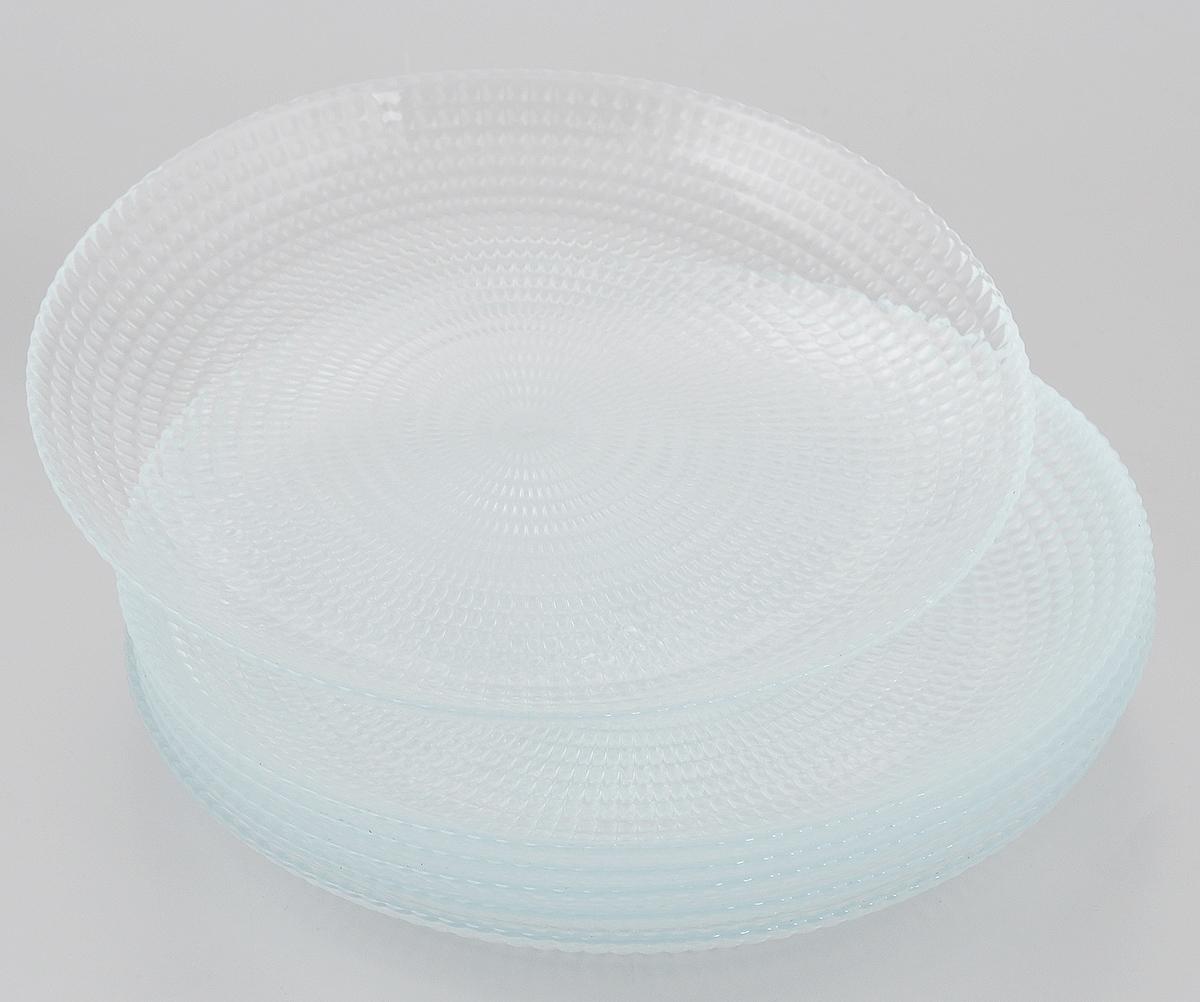 Набор тарелок Pasabahce Generation, диаметр 19 см, 6 шт10478Набор Pasabahce Generation, выполненный из высококачественного натрий-кальций-силикатного стекла, состоит из шести тарелок и предназначен для красивой сервировки различных блюд. Набор сочетает в себе изысканный дизайн с максимальной функциональностью. Можно использовать в холодильной камере и в микроволновой печи. Можно мыть в посудомоечной машине. Диаметр тарелки: 19 см.