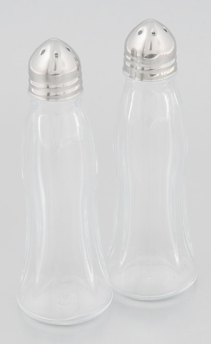 Набор для специй Pasabahce Black & White, 2 предмета80030Набор Pasabahce Black & White состоит из двух емкостей для специй, изготовленных из натрий-кальций-силикатного стекла, что позволяет видеть количество содержимого в емкости. Изделия оснащены откручивающимися крышками с отверстиями из металла. Стильная форма этих емкостей привлекает внимание и будет уместна на любой кухне. Размер емкости: 3,8 х 3,8 х 12 см.