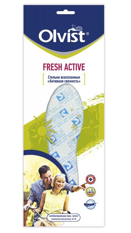 Стельки всесезонные Olvist Fresh Active, цвет: голубой. 111-2CC. Размер 36/46111-2CC AS Fresh ActiveСтельки всесезонные Olvist Fresh Active со специальной обработкой материала верха уменьшают вероятность возникновения запаха, а латекс впитывает избыточную влагу.