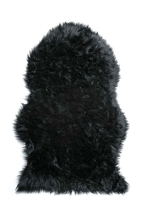 Шкура овечья Vortex, искусственная, 90х55 см, цвет: черный25001