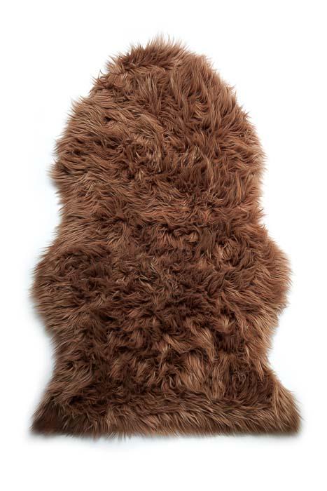 Шкура овечья Vortex, искусственная, 90х55 см, цвет: коричневый25002
