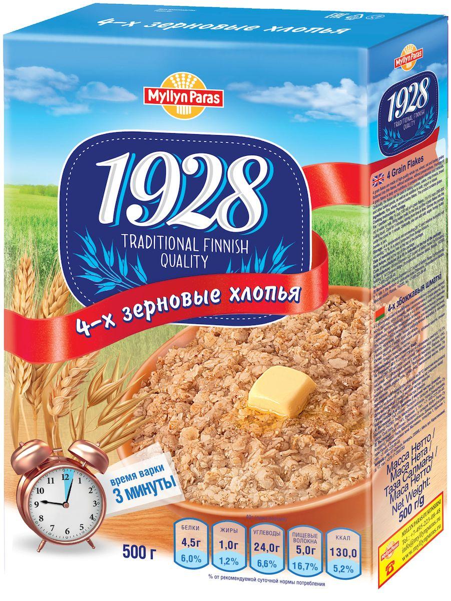 Myllyn Paras хлопья 4-х зерновые, 500 г58034-х зерновые хлопья Мюллюн Парас изготовлены из зерен, которые расплющены в тонкие хлопья. Эти хлопья можно использовать для каш, выпечки, мюсли и смешивать с простоквашей, йогуртом и.т.д.