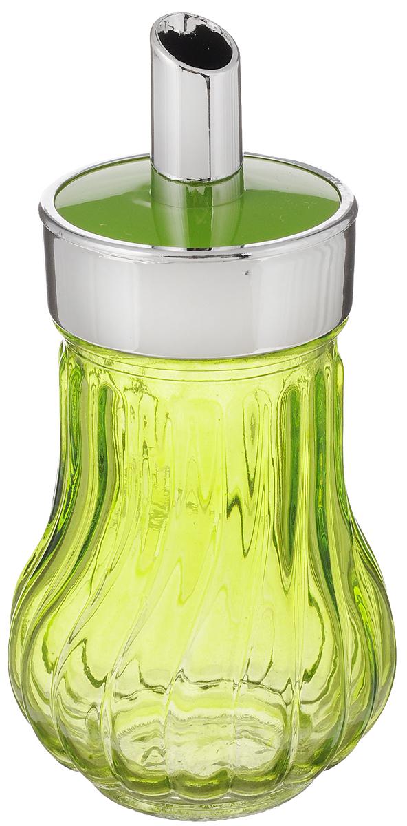 Банка для специй House & Holder, с дозатором, цвет: салатовый, 200 млPS3137IБанка для специй House & Holder выполнена из прозрачного стекла салатового цвета и оснащена пластиковой крышкой с отверстием, благодаря которому, вы сможете приправить блюда, просто перевернув банку. Крышка легко откручивается, благодаря чему засыпать приправу внутрь очень просто. Такая баночка станет достойным дополнением к вашему кухонному инвентарю. Объем: 200 мл. Диаметр (по верхнему краю): 4,5 см. Высота банки (без учета крышки): 10,8 см.