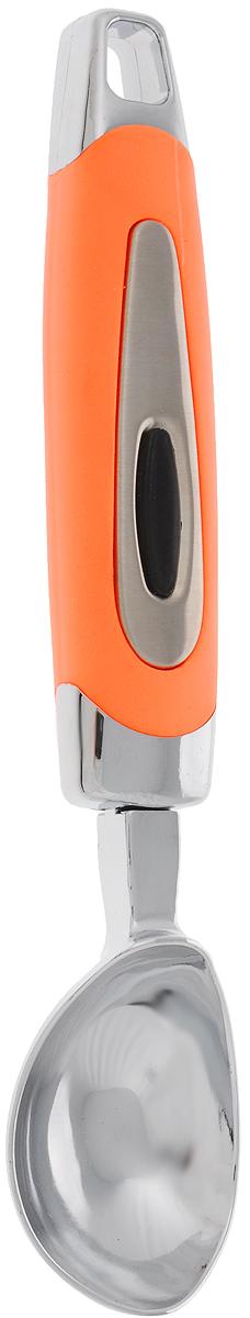 Ложка для мороженого Gotoff, длина 20 смJH-HP01004Ложка для мороженого Gotoff изготовлена из нержавеющей стали и пластика. Удобная рукоятка оснащена прорезиненной вставкой и отверстием для подвешивания. Прочная конструкция - подходит для твердого мороженого из морозильника. Ложка для мороженого Gotoff займет достойное место среди аксессуаров на вашей кухне. Длина ложки: 20 см. Размер рабочей поверхности: 5,5 х 4 см.