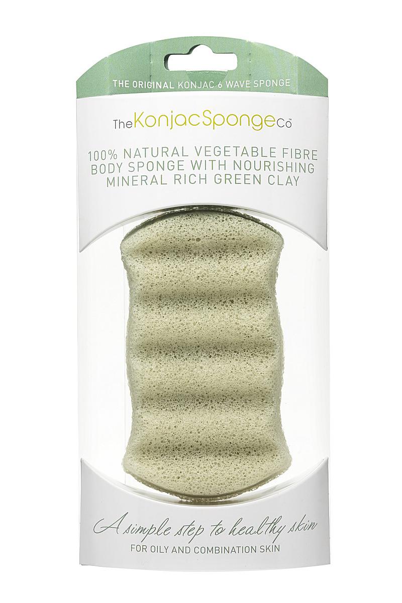 The Konjac Sponge Co Спонж для мытья тела Premium Six Wave Body Puff with French Green Clay801766Полностью натуральный спонж из растительной клетчатки для мытья тела (с добавлением французской зеленой глины для стягивания расширенных пор кожи). Не содержит химикатов, красителей, аллергенов. На 100% биоразлагаемый. Используется во влажном состоянии. Диаметр – ок. 13,5 см (без учета упаковки).