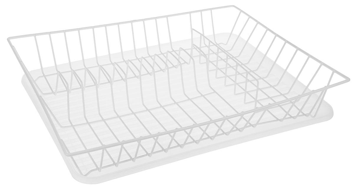Сушилка для посуды Walmer, с поддоном, цвет: прозрачный, белый, 43,5 x 33,5 x 8 смW14433088Сушилка Walmer, изготовленная из стали, представляет собой решетку с ячейками для посуды. Изделие оснащено пластиковым поддоном для стекания воды. Сушилка не займет много места на вашей кухне. Вы сможете разместить на ней большое количество предметов. Компактные размеры и оригинальный дизайн выделяют эту сушилку из ряда подобных. Размер сушилки: 43,5 х 33,5 х 8 см. Размер поддона: 43 х 32,5 х 2,5 см.