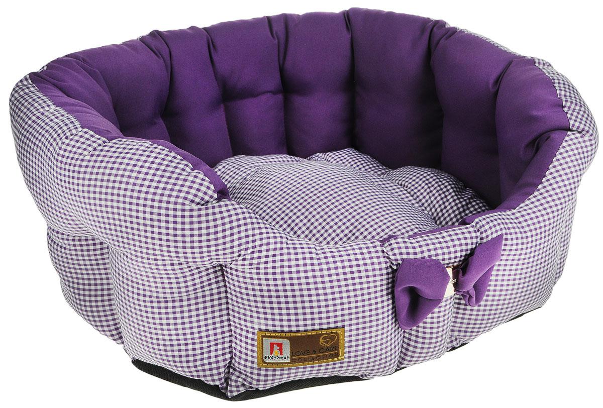 Лежак для собак и кошек Зоогурман Каприз, цвет: фиолетовый, диаметр 45 см2205_фиолетовыйМягкий и уютный лежак для кошек и собак Зоогурман Каприз обязательно понравится вашему питомцу. Лежак выполнен из нежного, приятного материала. Внутри - мягкий наполнитель, который не теряет своей формы долгое время. Внутри лежака теплый, съемный матрасик. Высокие борта лежака обеспечат вашему любимцу уют и комфорт. За изделием легко ухаживать, можно стирать вручную или в стиральной машине при температуре 40°С. Материал: микроволоконная шерстяная ткань. Наполнитель: гипоаллергенное синтетическое волокно. Наполнитель матрасика: шерсть. Диаметр: 45 см. Внутренний диаметр: 33 см. Высота бортиков: 18 см.