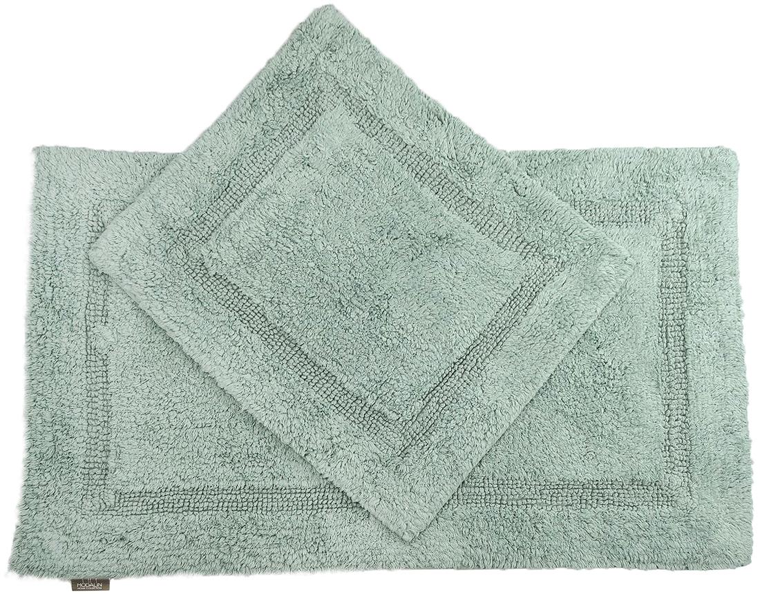 Набор ковриков для ванной Modalin Karla, цвет: зеленый, 2 шт5027/CHAR004Набор Modalin Karla, выполненный из высококачественного хлопка, состоит из двух ковриков для ванной комнаты. Изделия добавят тепло и уют, а также внесут неповторимый колорит в интерьер ванной комнаты. Высокая износостойкость ковриков и стойкость цвета позволит вам наслаждаться покупкой долгие годы. Размер большего коврика: 60 х 100 см. Размер малого коврика: 60 х 50 см.