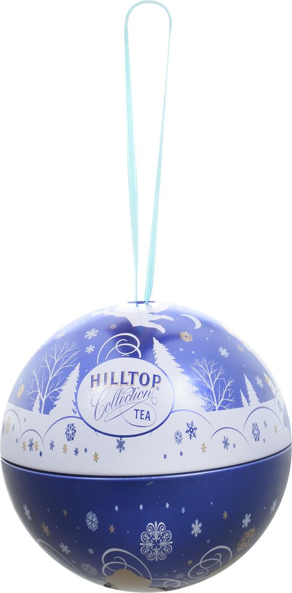 Hilltop Новогодний Шар Снежный ангел Молочный оолонг ароматизированный листовой чай, 80 г4607099307551Hilltop Снежный ангел - знаменитый китайский полуферментированный чай Оолонг, с нежным ароматом свежих сливок. Поставляется в яркой праздничной упаковке в виде елочной игрушки. Отличной подойдет в качестве подарка на новогодние праздники.