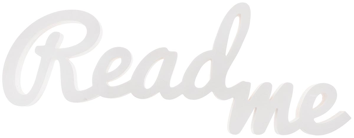 Табличка декоративная Magellanno ReadMe2, цвет: белый, 61 х 23 смDEC009WДекоративная табличка Magellanno ReadMe2, выполненная из фанеры, идеально подойдет к интерьерам в стиле лофт, прованс, шебби-шик, тем самым украсив любую комнату в вашем доме. Именно такие уютные и приятные мелочи позволяют называть пространство, ограниченное четырьмя стенами, домом. Также табличка Оранжевый Слоник ReadMe2 способна дополнить вашу фотосессию, придав ей оригинальности и смысла. Размер таблички: 61 х 23 см. Толщина таблички: 1,8 см.